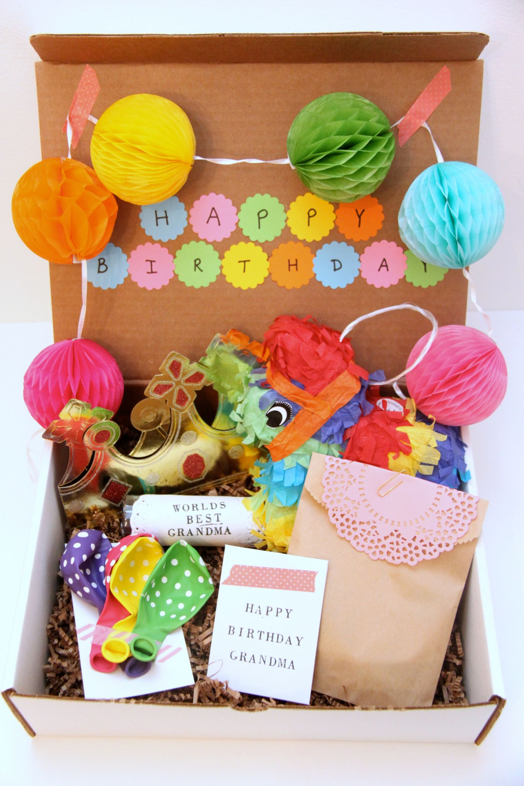 Ideas For A Birthday Gift  A Birthday In a Box Gift for Grandma Smashed Peas & Carrots
