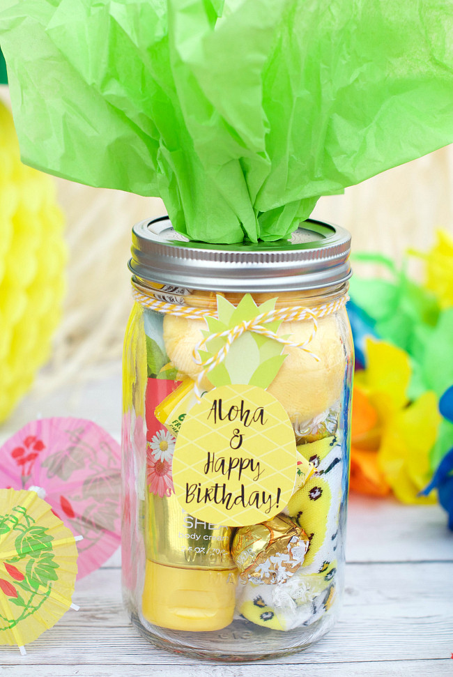 Ideas For A Birthday Gift  Cute Pineapple Themed Birthday Gift Idea – Fun Squared