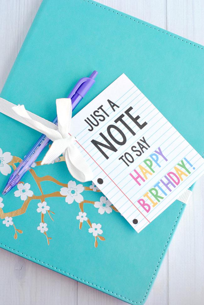 """Ideas For A Birthday Gift  Cute & Creative """"Note"""" Gift Idea for Birthdays or Teacher"""