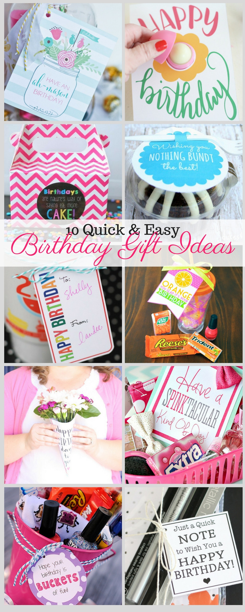 Ideas For A Birthday Gift  10 Quick and Easy Birthday Gift Ideas Liz on Call