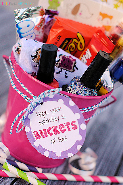 """Ideas For A Birthday Gift  """"Buckets of Fun"""" Birthday Gift Idea Crazy Little Projects"""