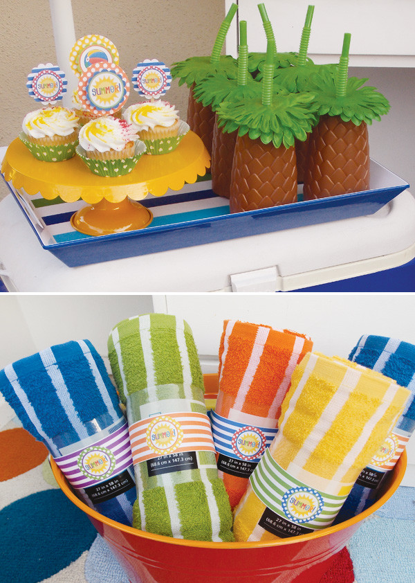 Ideas Pool Party  School s Out  Summer Pool Party Ideas Hostess with