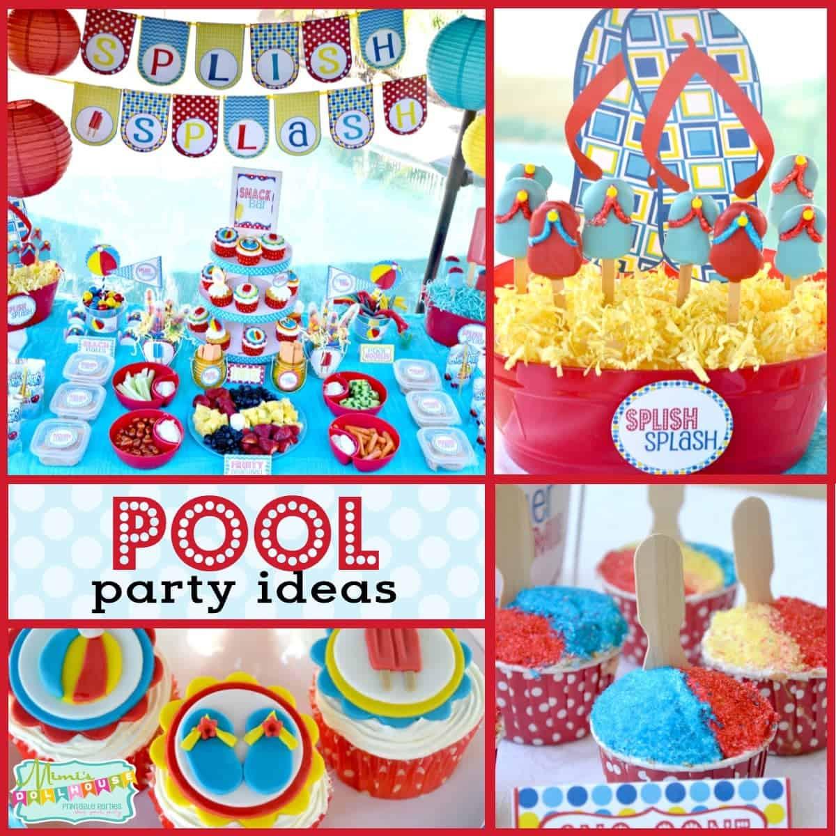 Ideas Pool Party  Pool Party Splish Splash School s Out Party Mimi s