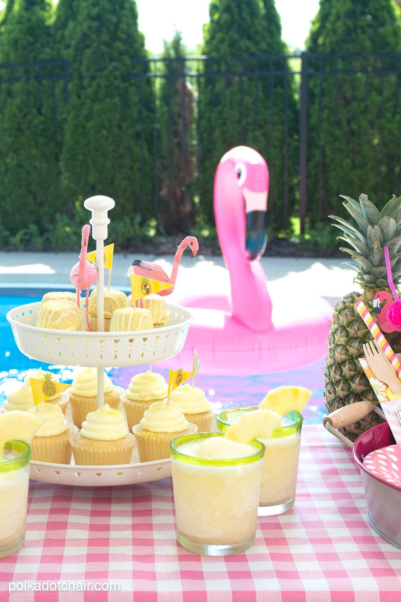 Ideas Pool Party  Summer Backyard Flamingo Pool Party Ideas The Polka Dot