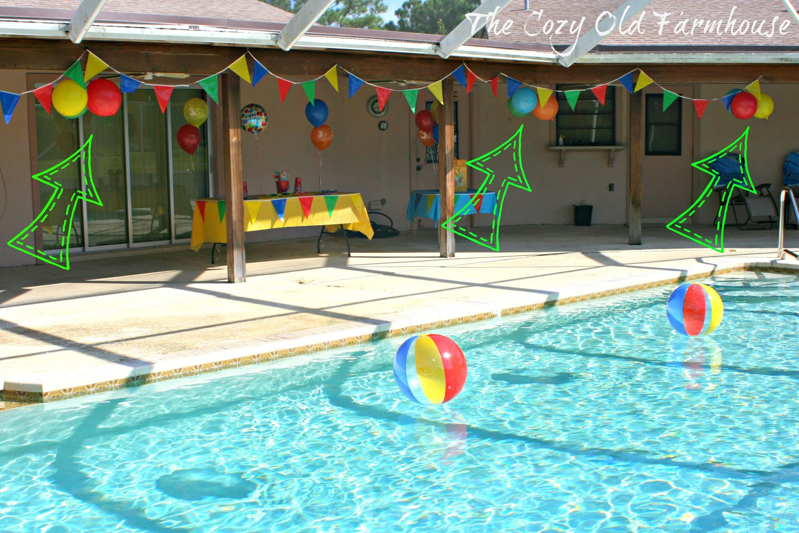 """Ideas Pool Party  The Cozy Old """"Farmhouse"""" Simple and Bud Friendly Pool"""