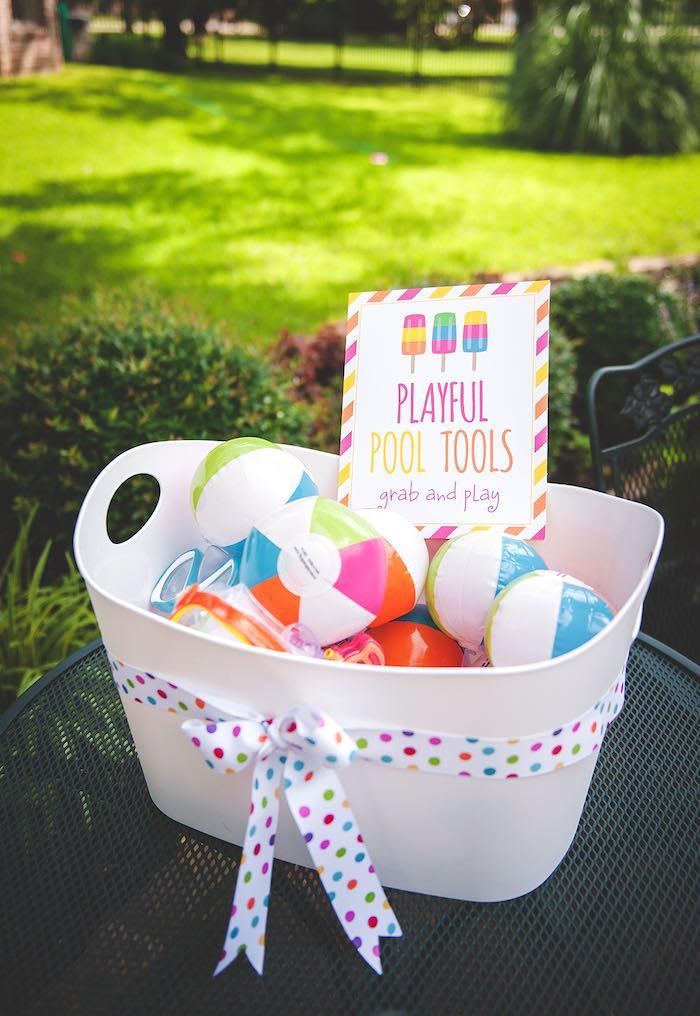 Ideas Pool Party  Kara s Party Ideas Birthday Popsicle Pool Party