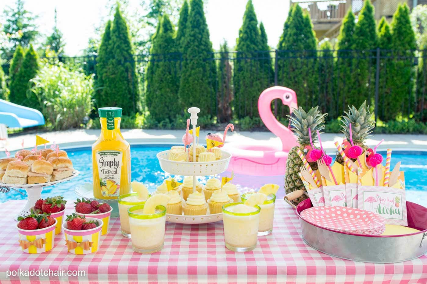 Ideas Pool Party  Summer Backyard Flamingo Pool Party Ideas