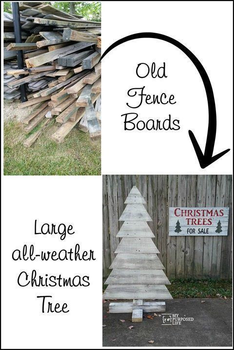 Indoor Christmas Tree Fence  Pallet Christmas Tree