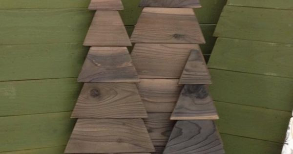 Indoor Christmas Tree Fence  Customizable Rustic Cedar Fence Board Christmas Trees