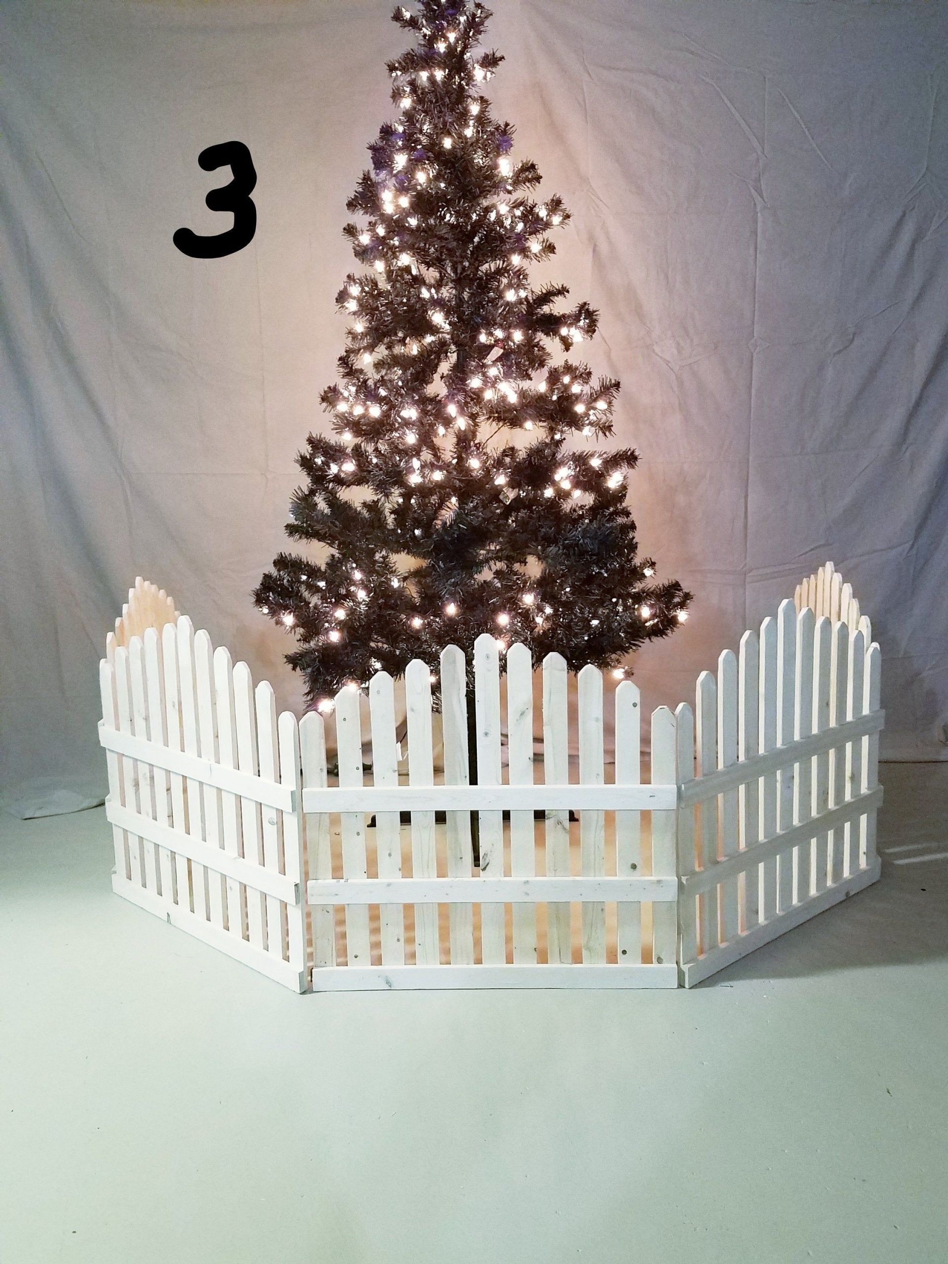 Indoor Christmas Tree Fence  Rustic Christmas tree Fence Indoor Outdoor 10 ft in