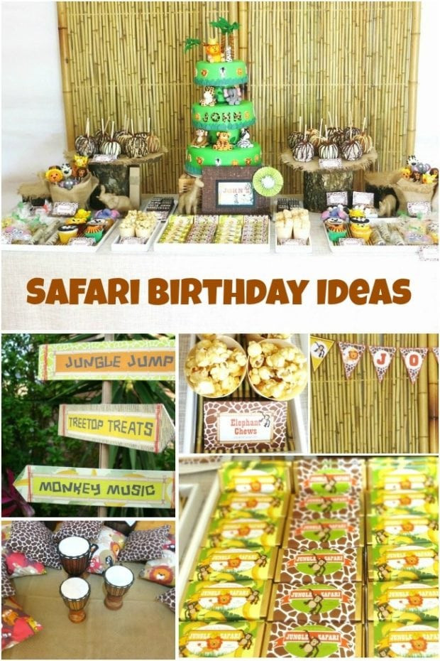Jungle Theme Birthday Party  Jungle Safari Themed First Birthday Party Spaceships and