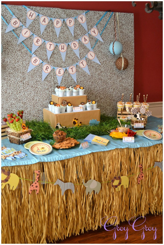 Jungle Theme Birthday Party  Love Laugh and Plan Jungle Themed Birthday Party