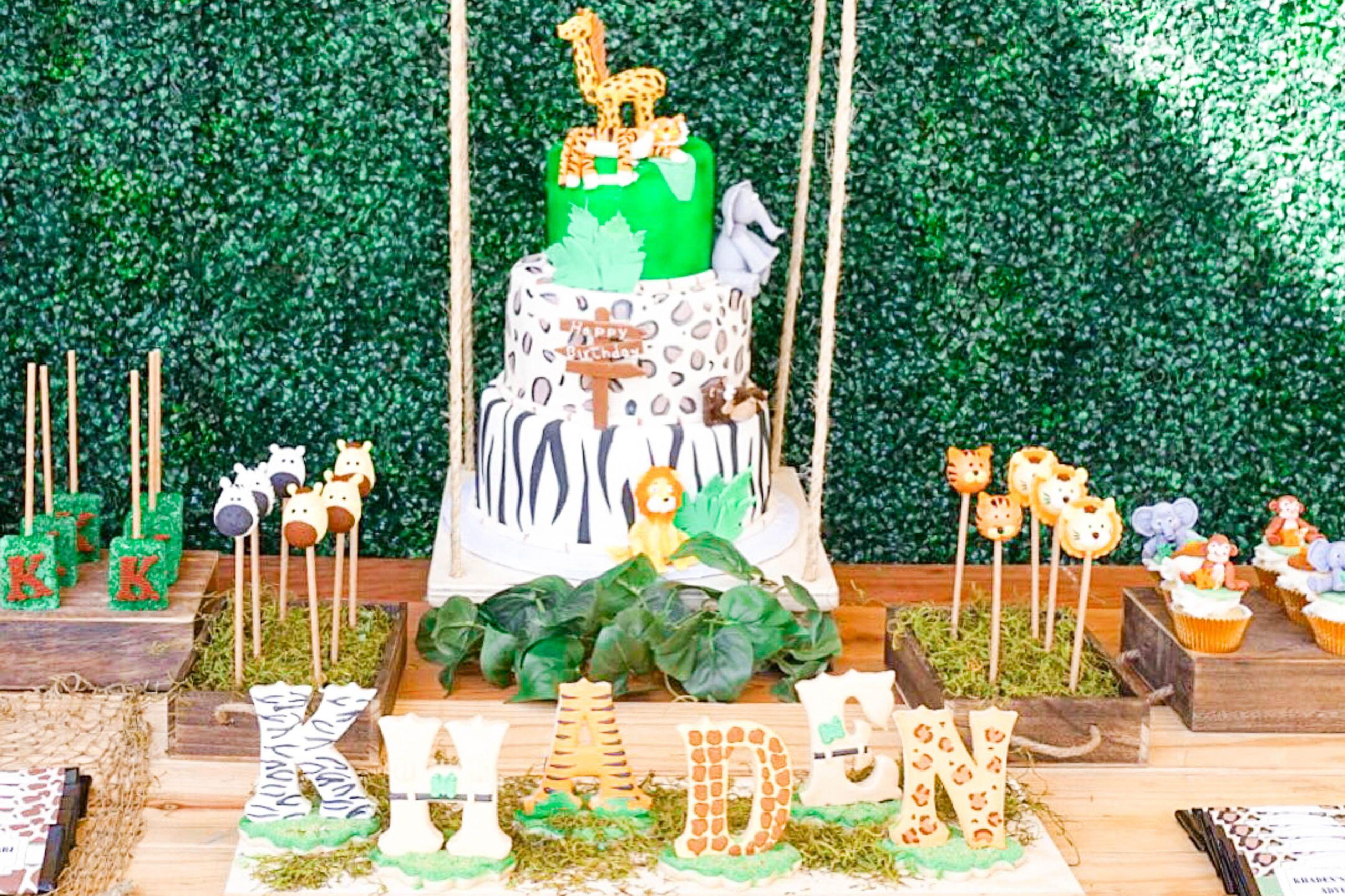 Jungle Theme Birthday Party  Wild Jungle Safari Birthday Party Theme TINSELBOX
