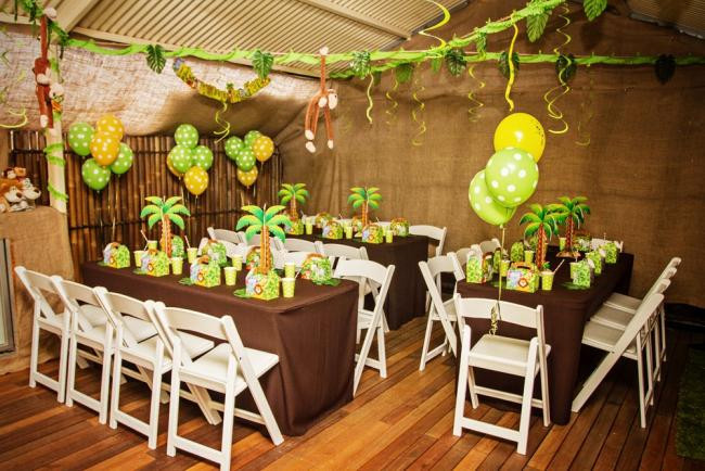 Jungle Theme Birthday Party  Monkey Themed Jungle Birthday Party Spaceships and Laser