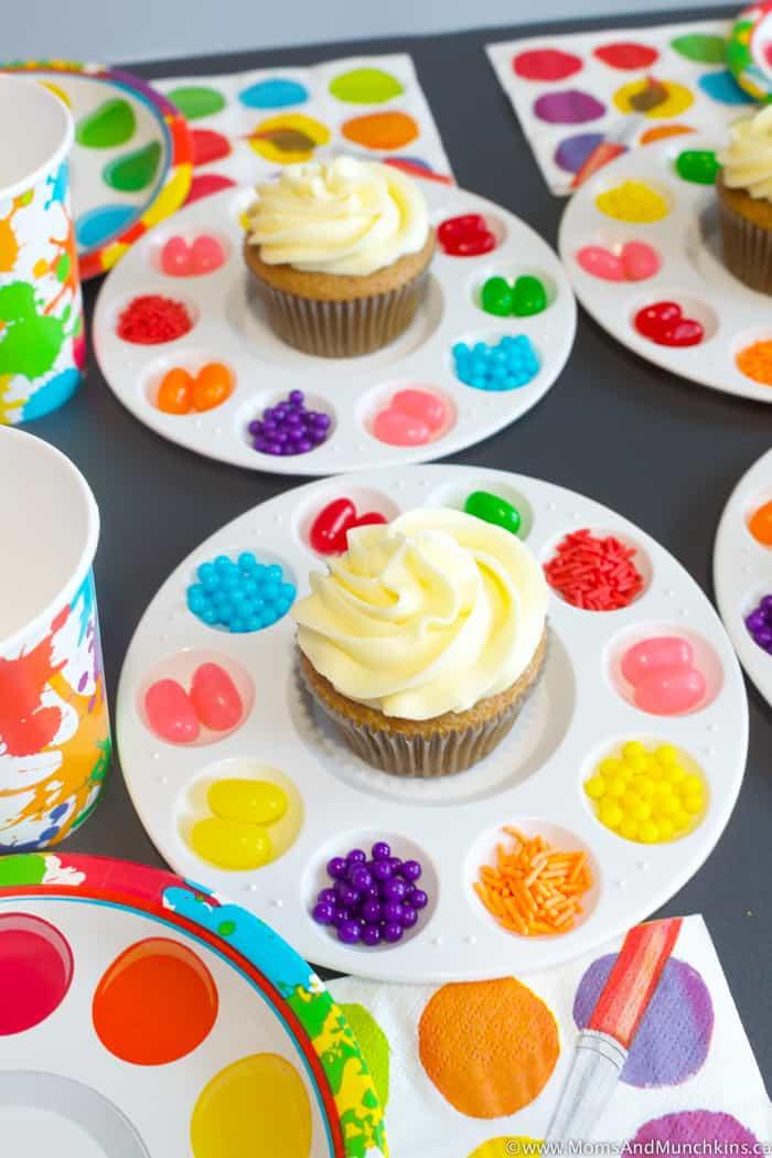 Kids Birthday Party Decoration Ideas  Art Birthday Party Ideas for Kids Moms & Munchkins