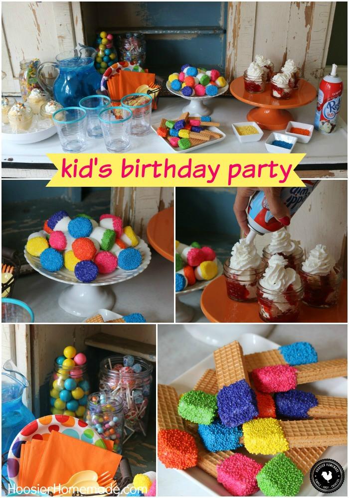 Kids Birthday Party Decoration Ideas  Easy Kid s Birthday Party Ideas Hoosier Homemade