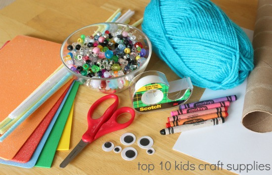 Kids Crafting Supplies  Kids in the Craft Room Basic Craft Supplies