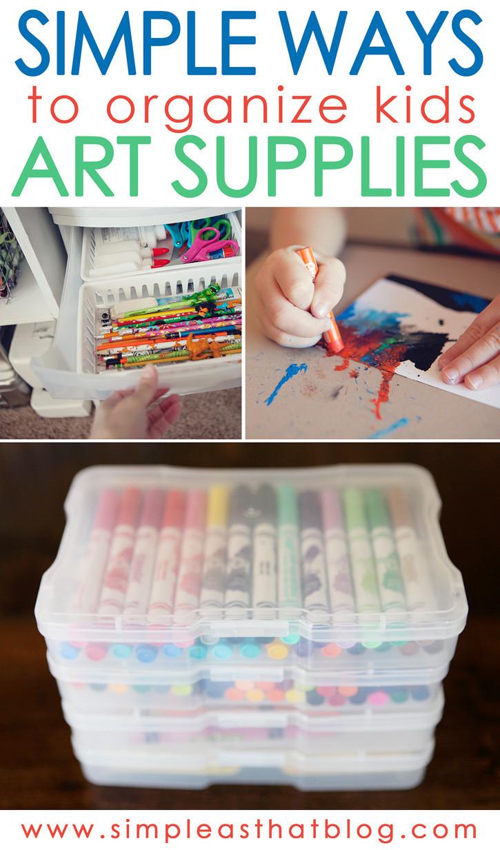 Kids Crafting Supplies  Simple Ways to Organize Kids Craft Supplies