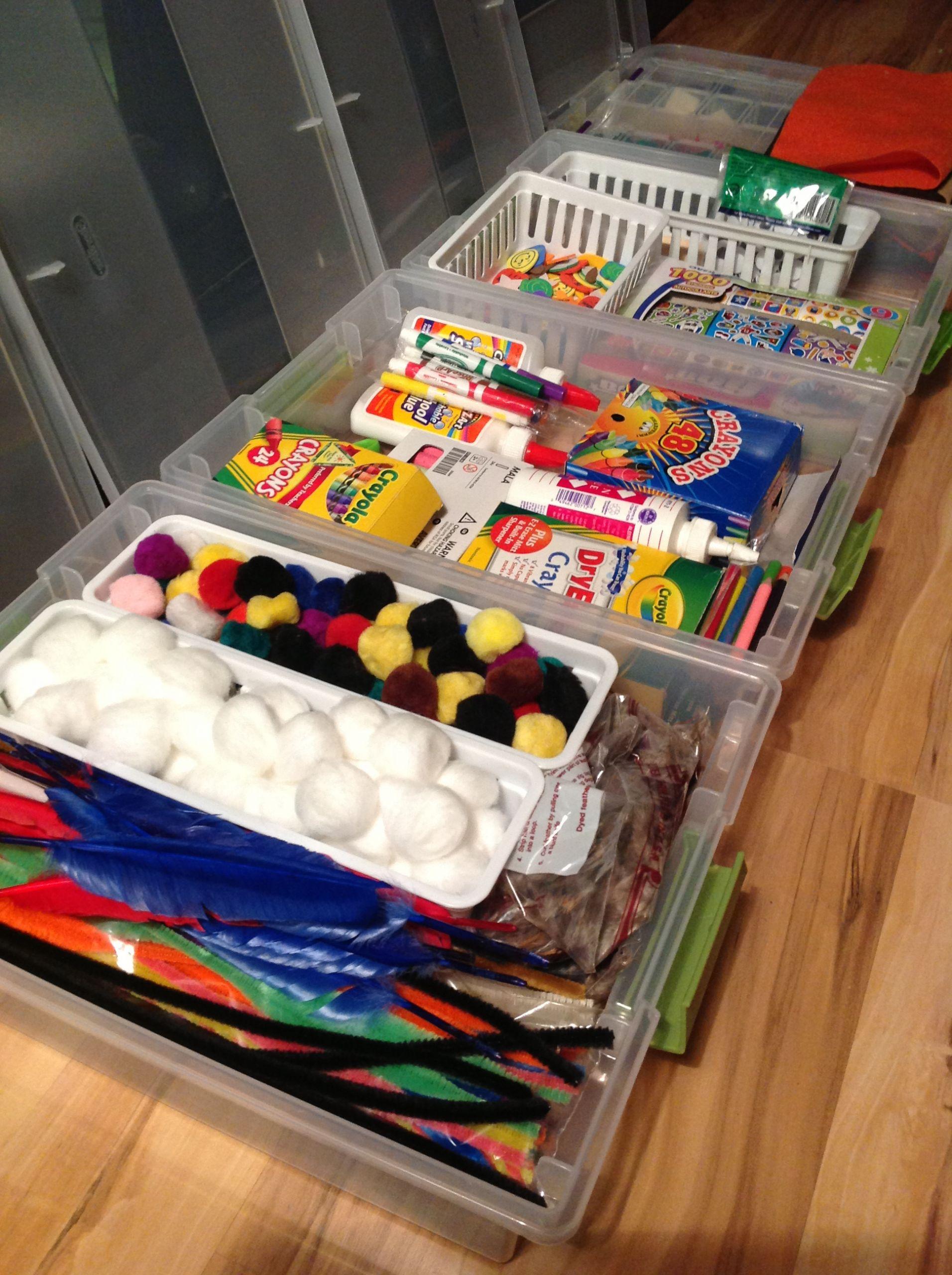 Kids Crafting Supplies  Kid's Craft Organization