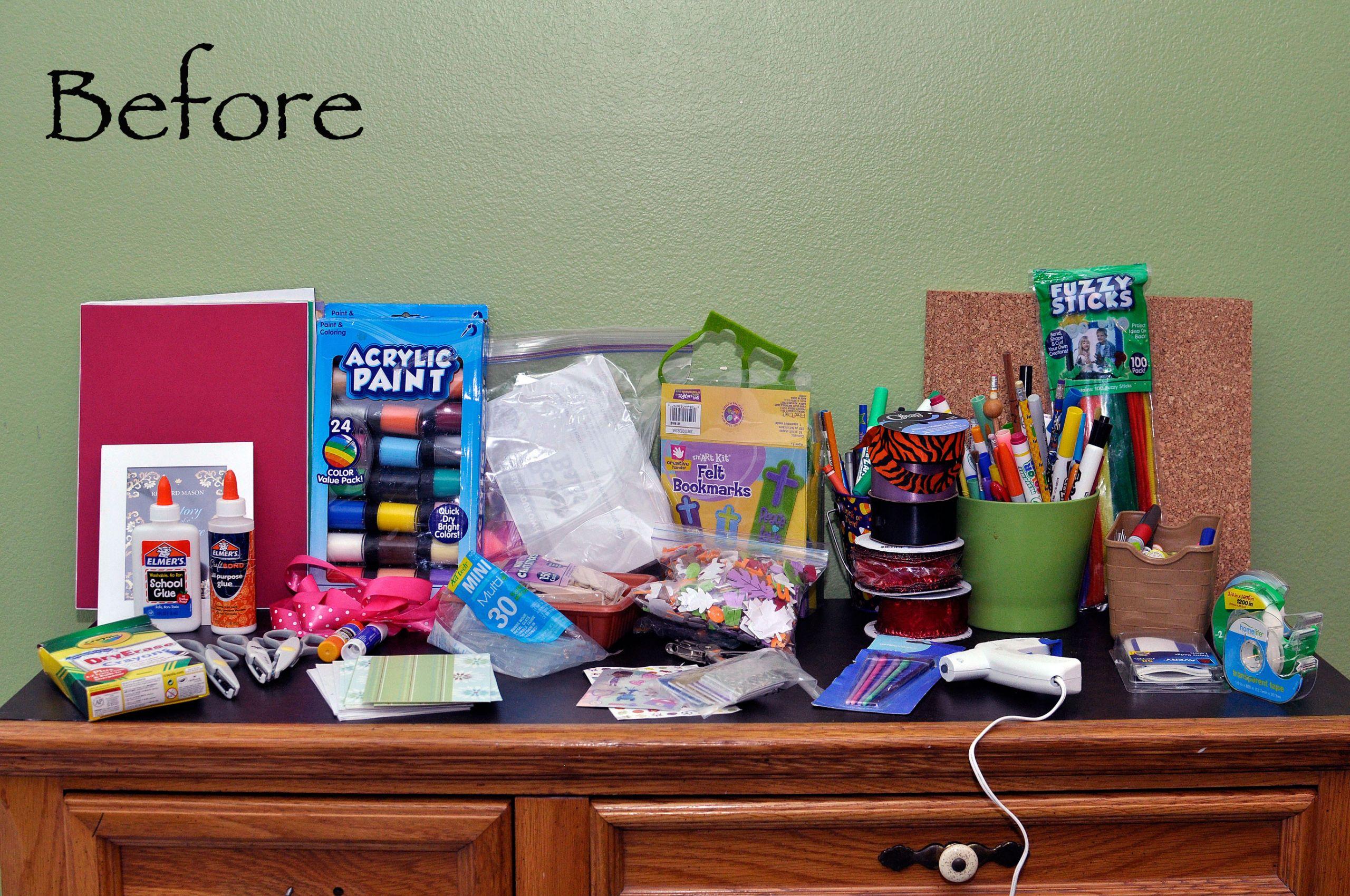 Kids Crafting Supplies  How To Organize Kids Craft Supplies
