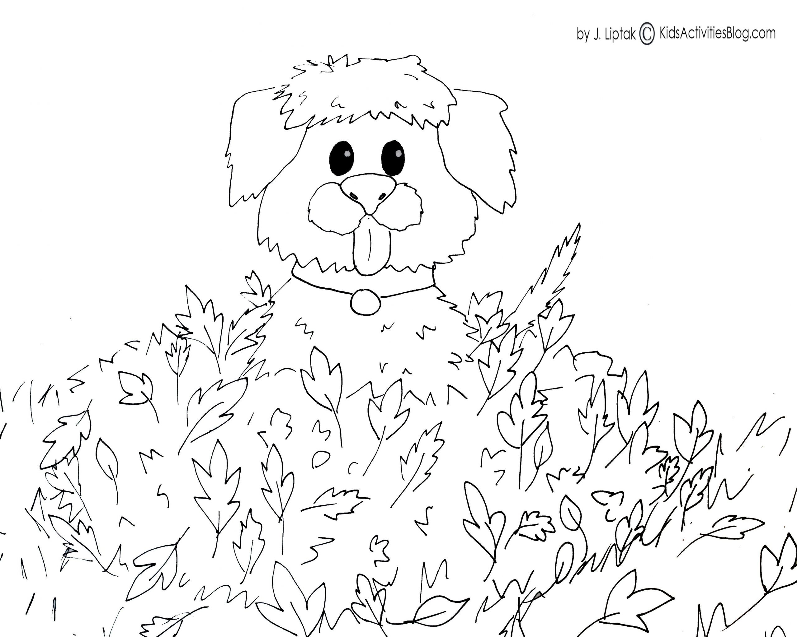Kids Fall Coloring Pages  4 FREE PRINTABLE FALL COLORING PAGES Kids Activities