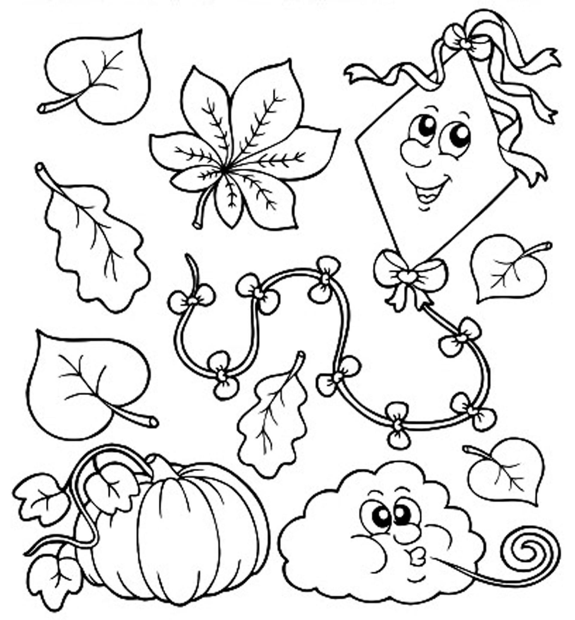 Kids Fall Coloring Pages  Fall Coloring Pages for Kindergarten