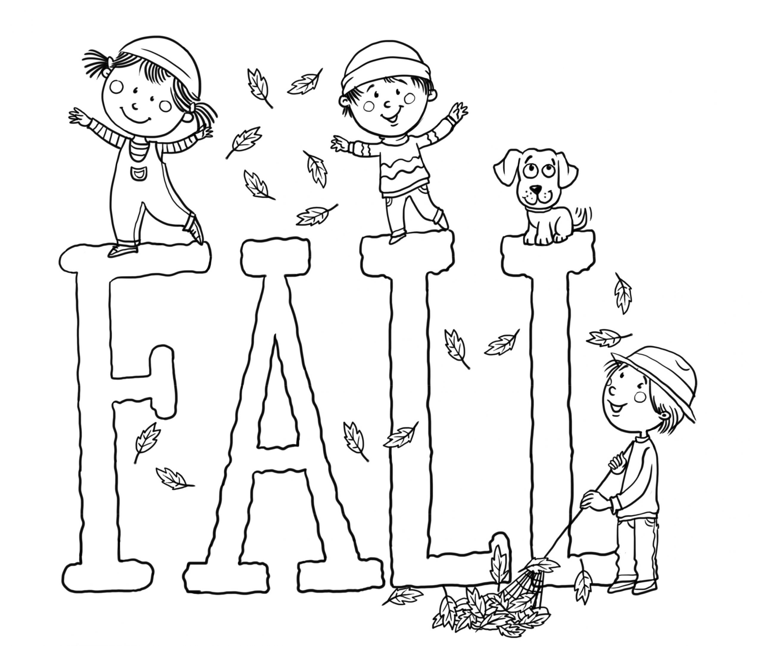 Kids Fall Coloring Pages  Free Printable Fall Coloring Pages for Kids Best