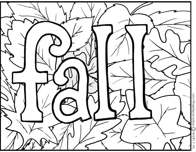 Kids Fall Coloring Pages  Fall Free Printables For Kids