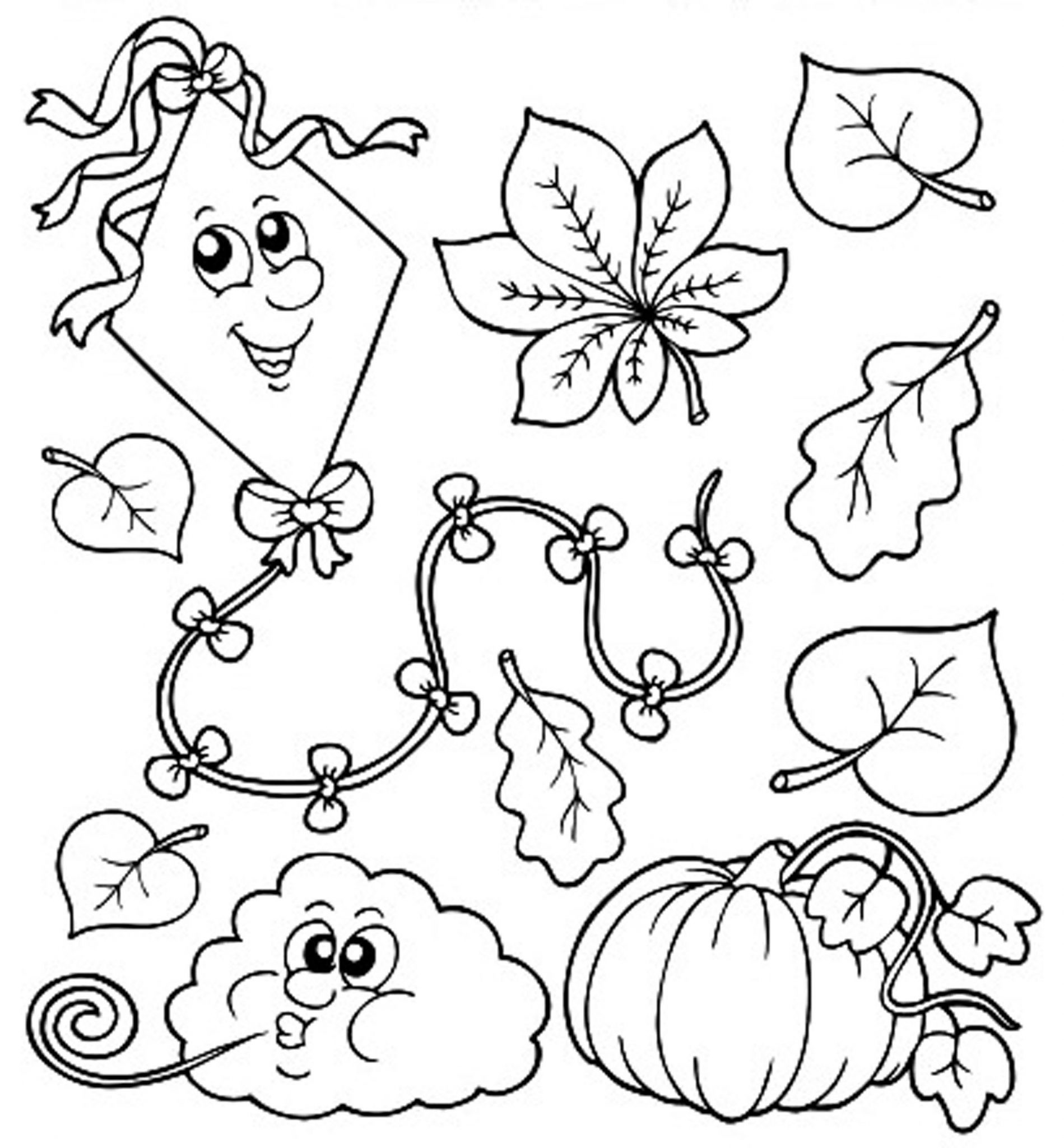 Kids Fall Coloring Pages  Print & Download Fall Coloring Pages & Benefit of