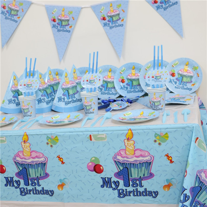Kids First Birthday Party  102pcs Kids First Birthday Party Set 10 people Girl Boy