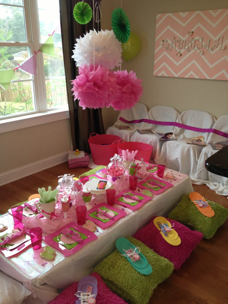 Kids Spa Party Favors  How to Throw a Glamorous Kids Spa Party
