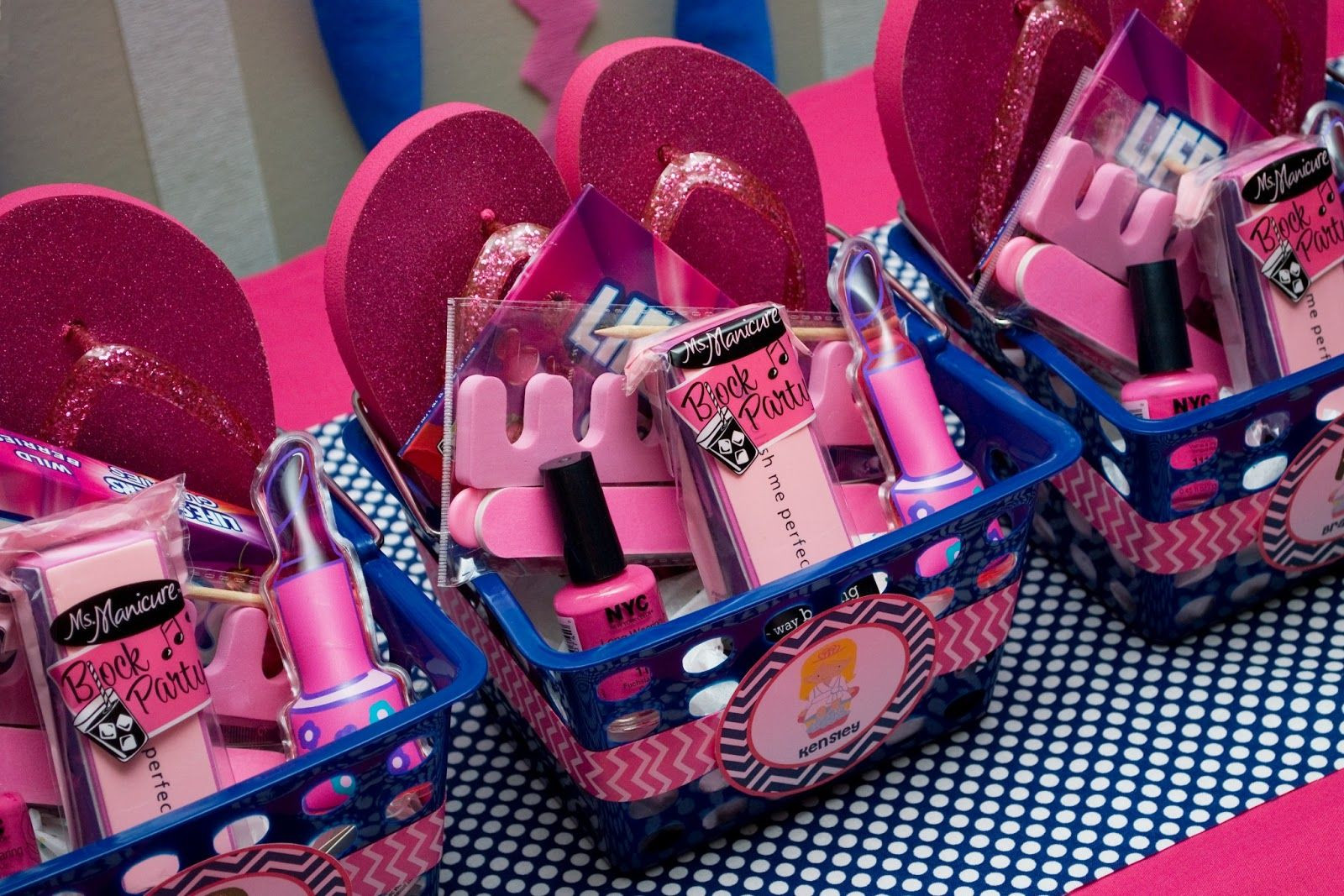 Kids Spa Party Favors  Chevron Spa Party Happy 5th Birthday Kensley