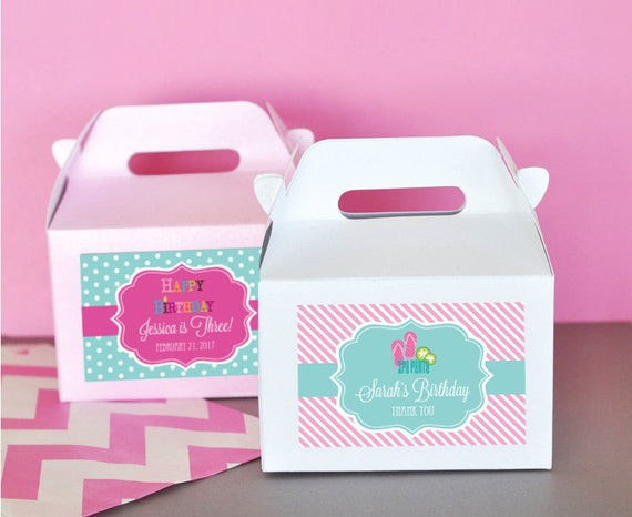 Kids Spa Party Favors  Items similar to Spa Party Favor Box Girls Spa Theme