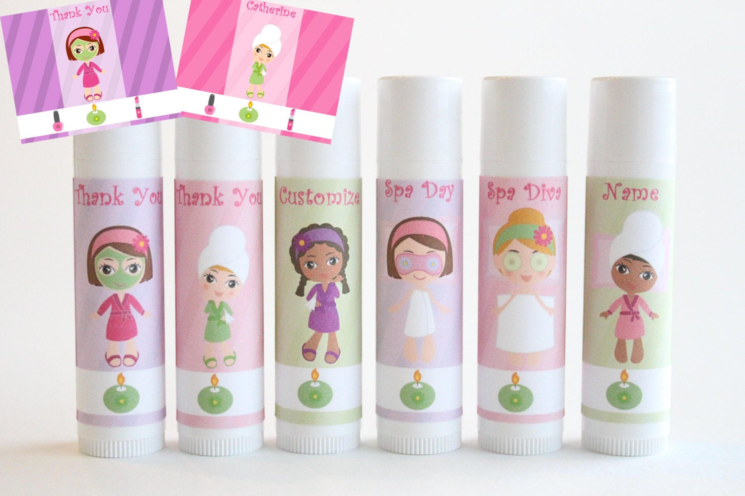 Kids Spa Party Favors  Spa Party Favors Customized Lip Balm Kids by NanasPartyPalace