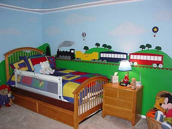 Kids Train Decor  18 Colorful Wall Murals For Children s Room