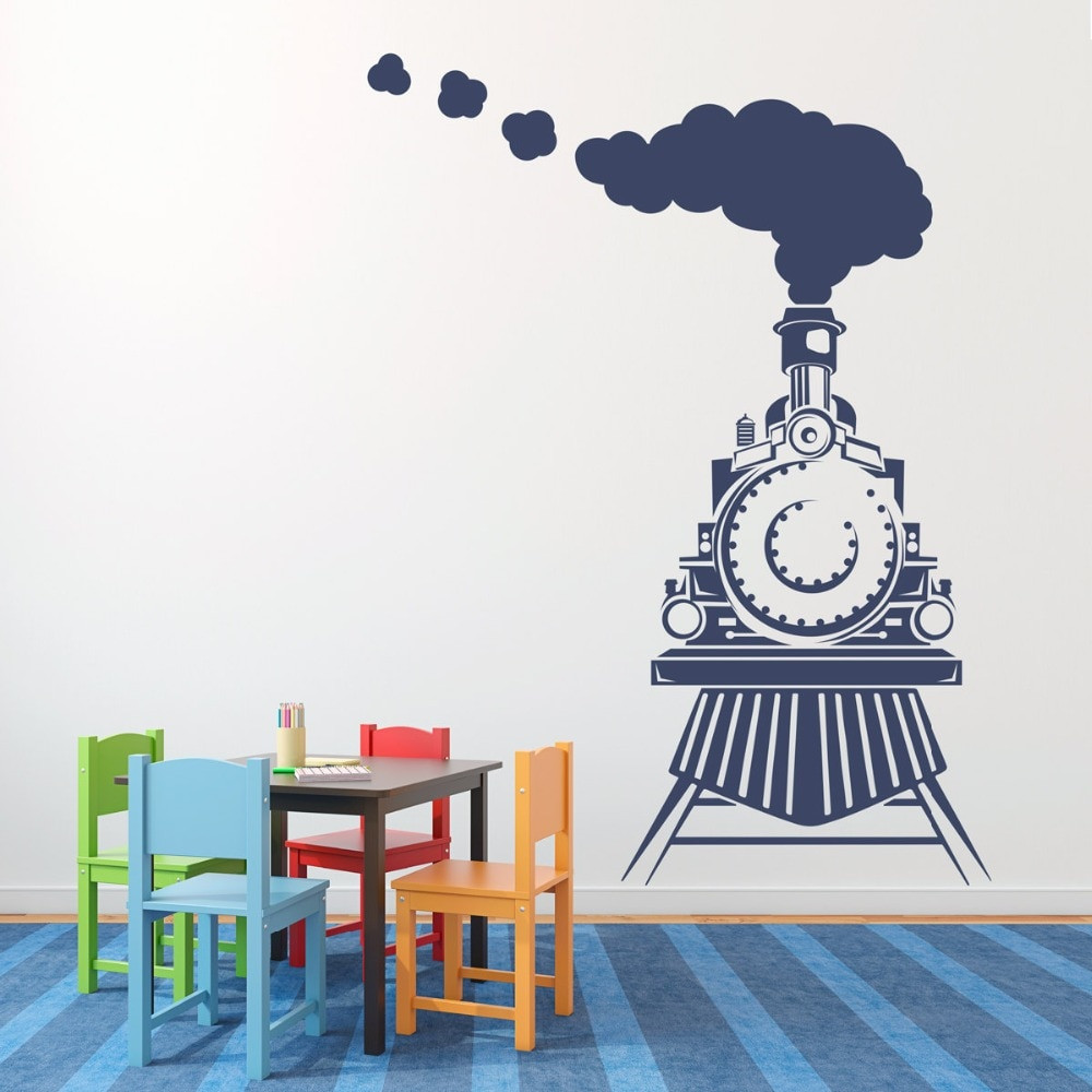 Kids Train Decor  Home Decor Train Wall Decal Front view of Train Decal Kids