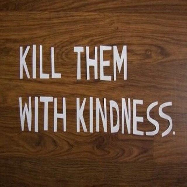Killing With Kindness Quotes  Kill Them With Kindness s and for