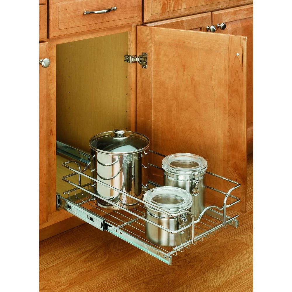 Kitchen Cabinet Shelves Organizer  9 in Cabinet Pull Out Wire Kitchen Storage Organizer Rack