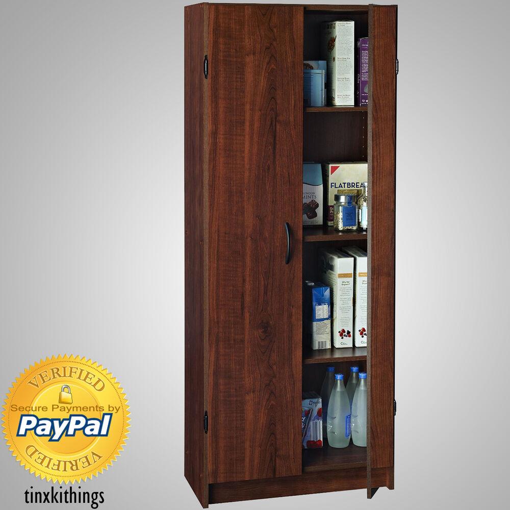 Kitchen Cabinet Shelves Organizer  Wooden Tall Pantry Cabinet Storage Organizer Kitchen Bath