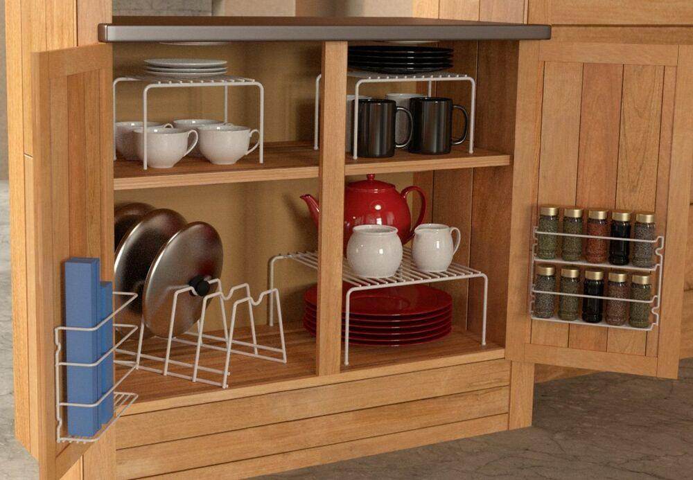 Kitchen Cabinet Shelves Organizer  6 Piece Kitchen Cabinet Pantry Shelf Organizer Door