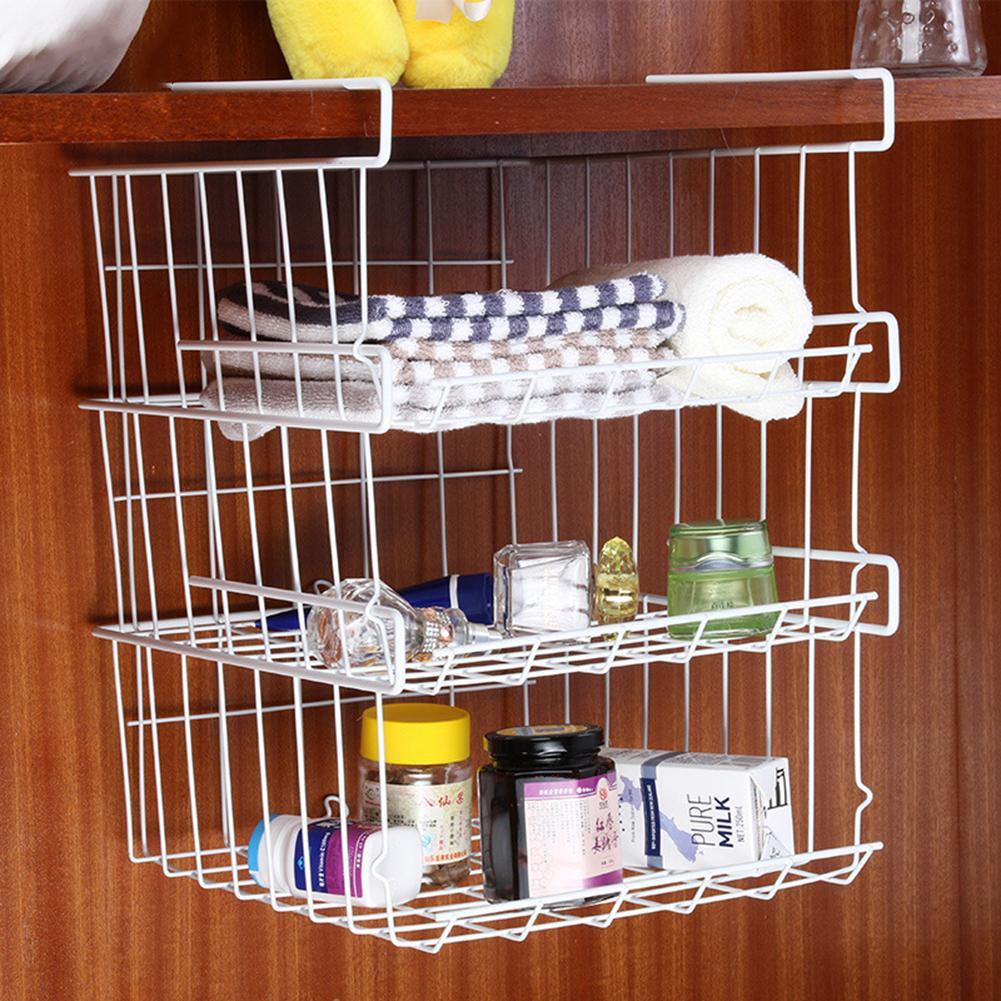 Kitchen Cabinet Shelves Organizer  Refrigerator Storage Basket Kitchen Multifunctional