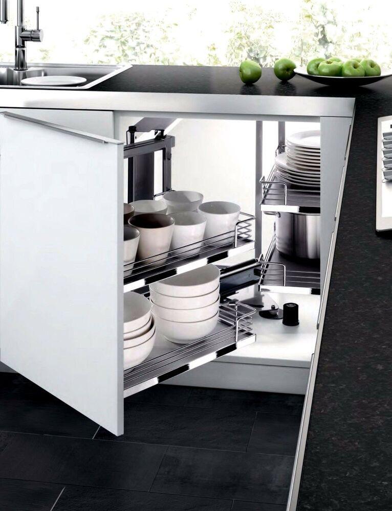 Kitchen Cabinet Shelves Organizer  Kitchen Cabinet Blind Corner PULL OUT SHELVES Sliding Door