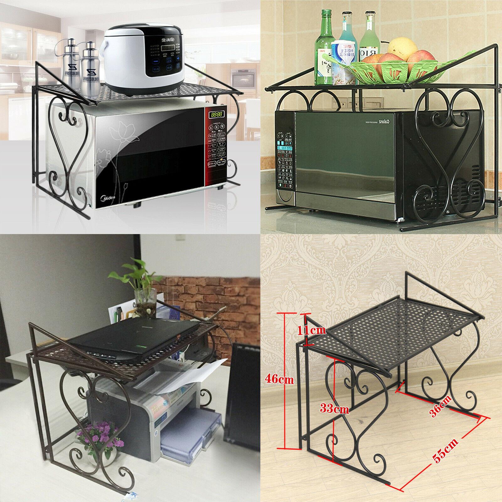 Kitchen Cabinet Shelves Organizer  Microwave Oven Rack Kitchen Organizer Counter Cabinet