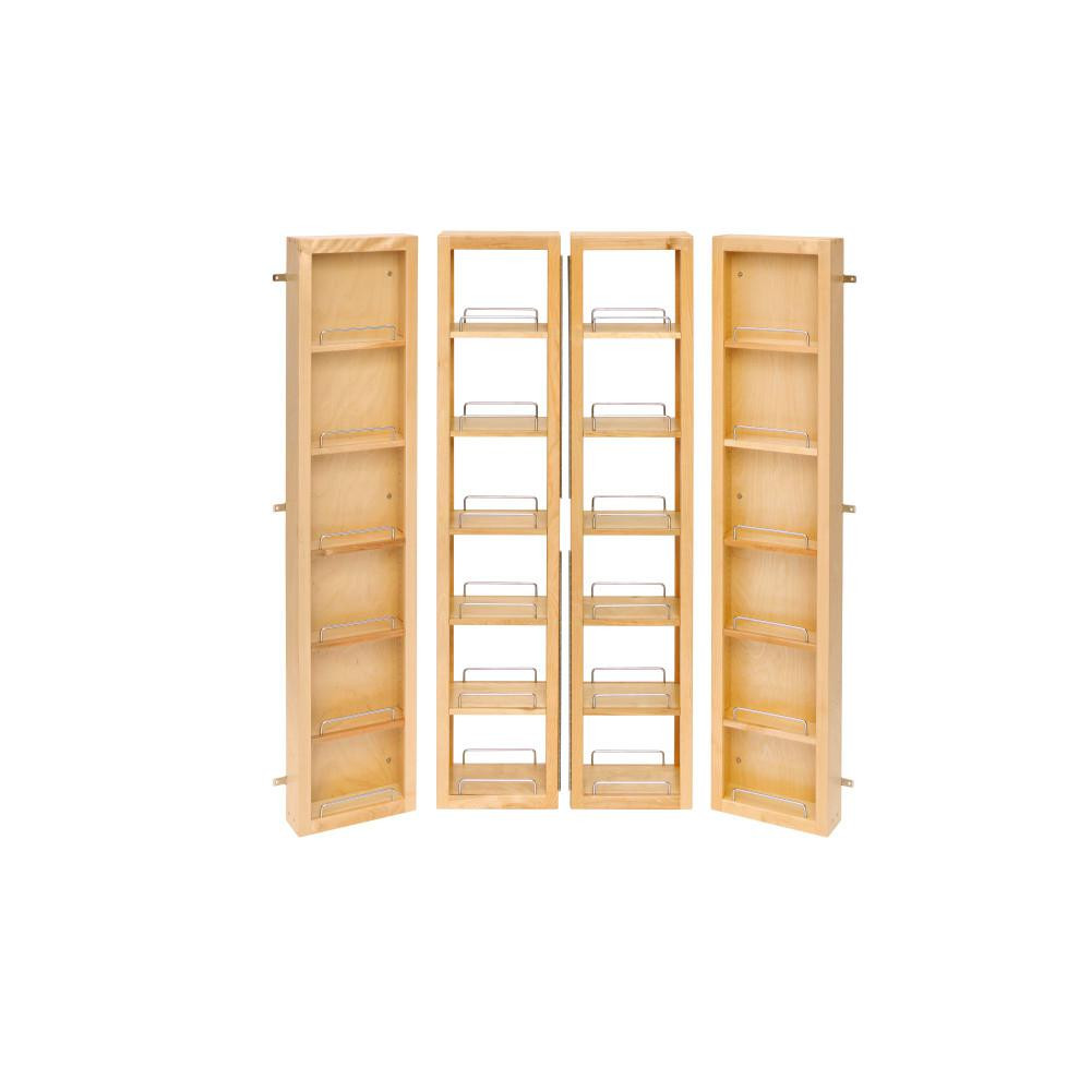 Kitchen Cabinet Shelves Organizer  Rev A Shelf 57 in H x 12 in W x 7 5 in D Wood Swing Out
