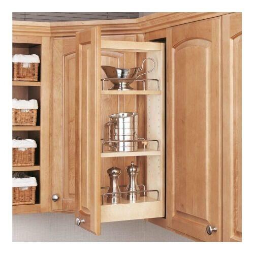 Kitchen Cabinet Shelves Organizer  Rev A Shelf Pull Slide Out Adjustable Kitchen Storage Wood