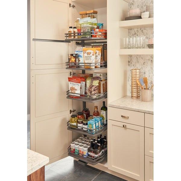 "Kitchen Cabinet Shelves Organizer  Shop Rev A Shelf 5374 18FL 5374 Series 15"" by 75"" Tall Two"