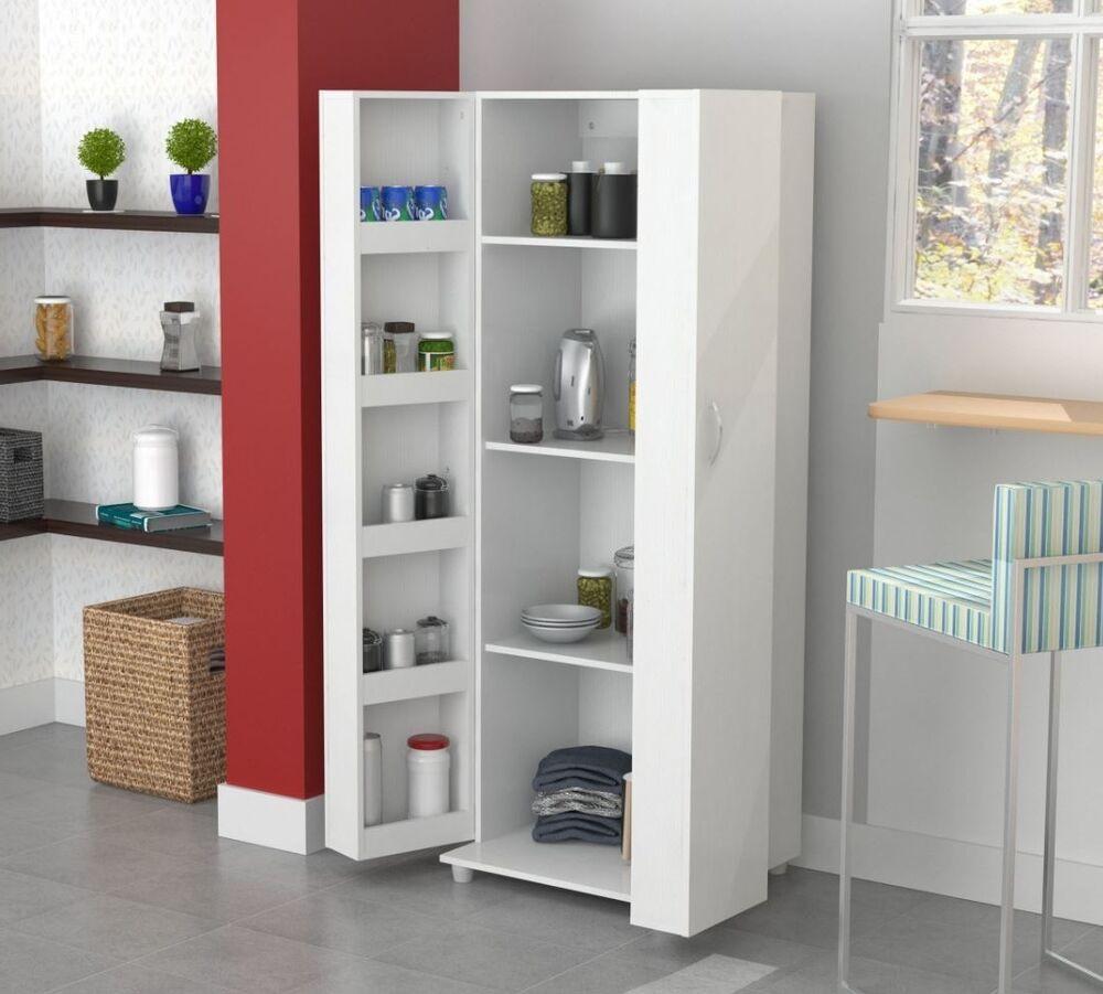 Kitchen Cabinet Shelves Organizer  Tall Kitchen Cabinet Storage White Food Pantry Shelf
