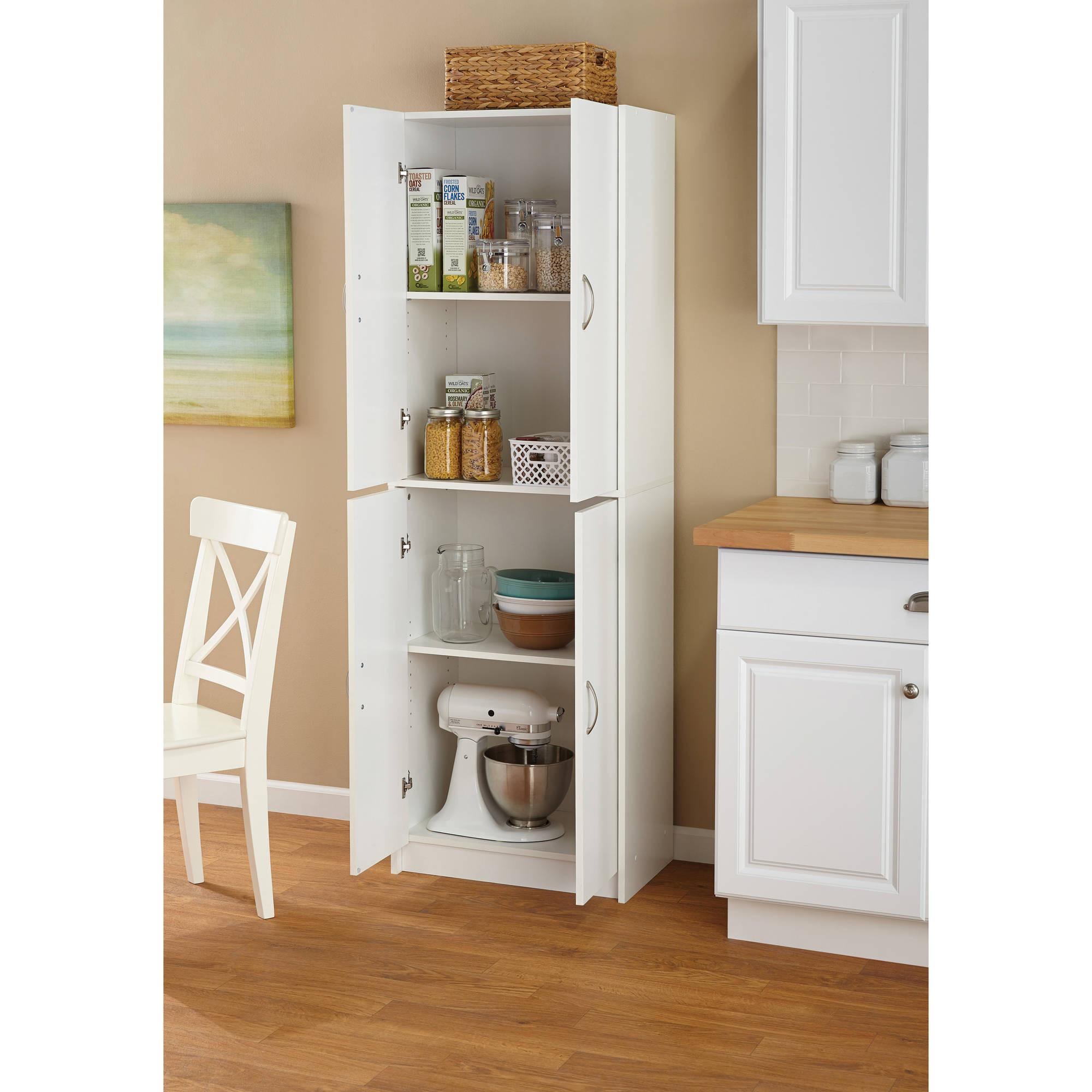 Kitchen Cabinet Shelves Organizer  Tall Storage Cabinet Kitchen Cupboard Pantry Food Storage
