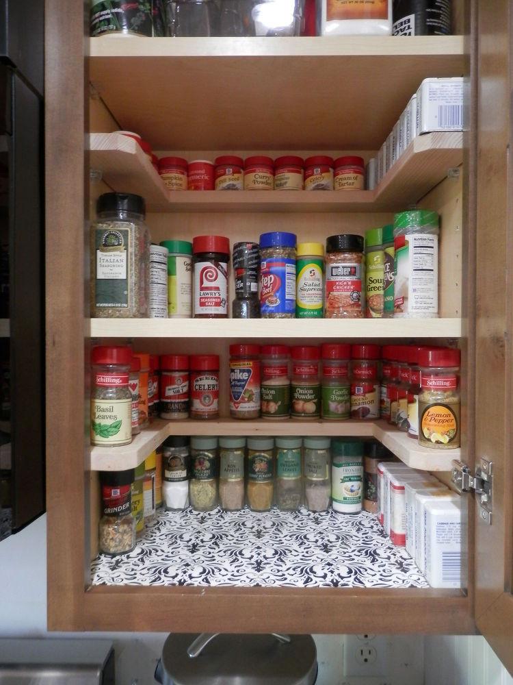 Kitchen Cabinet Shelves Organizer  DIY Spicy Shelf organizer