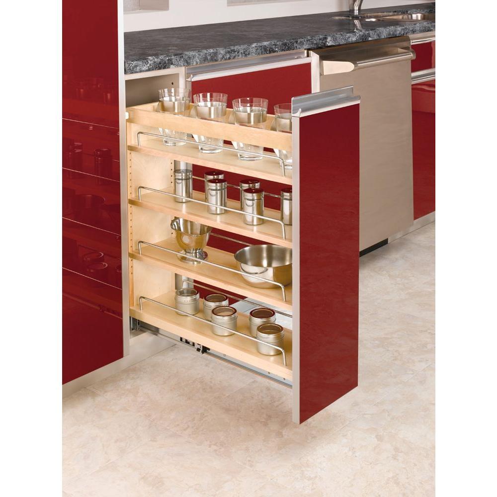Kitchen Cabinet Shelves Organizer  Rev A Shelf 25 48 in H x 8 19 in W x 22 47 in D Pull